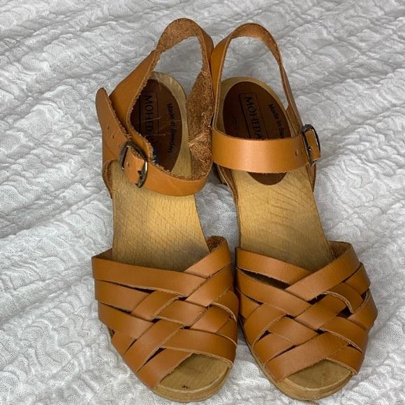 9eea5cc537dc4 Moheda clogs Sandals Peep Toe Size 8